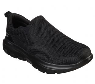 Mens Skechers 54738 BBK Black Go Walk Evo Ultra Impeccable Slip-On Trainers